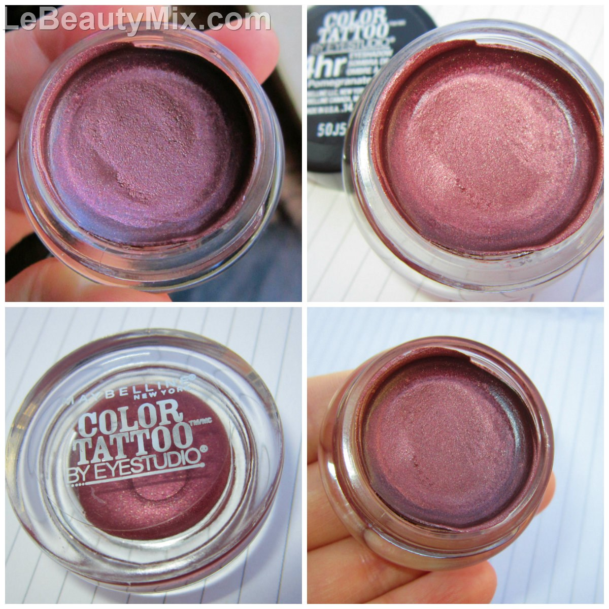 Maybelline Color Tattoo Pomegranate Punk – Swatches and Review ...